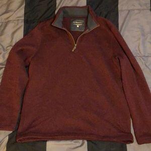 Bass /& Co Men's 1//4 Zip Long Sleeve Pullover Shirt Gray Size XL NWT G.H